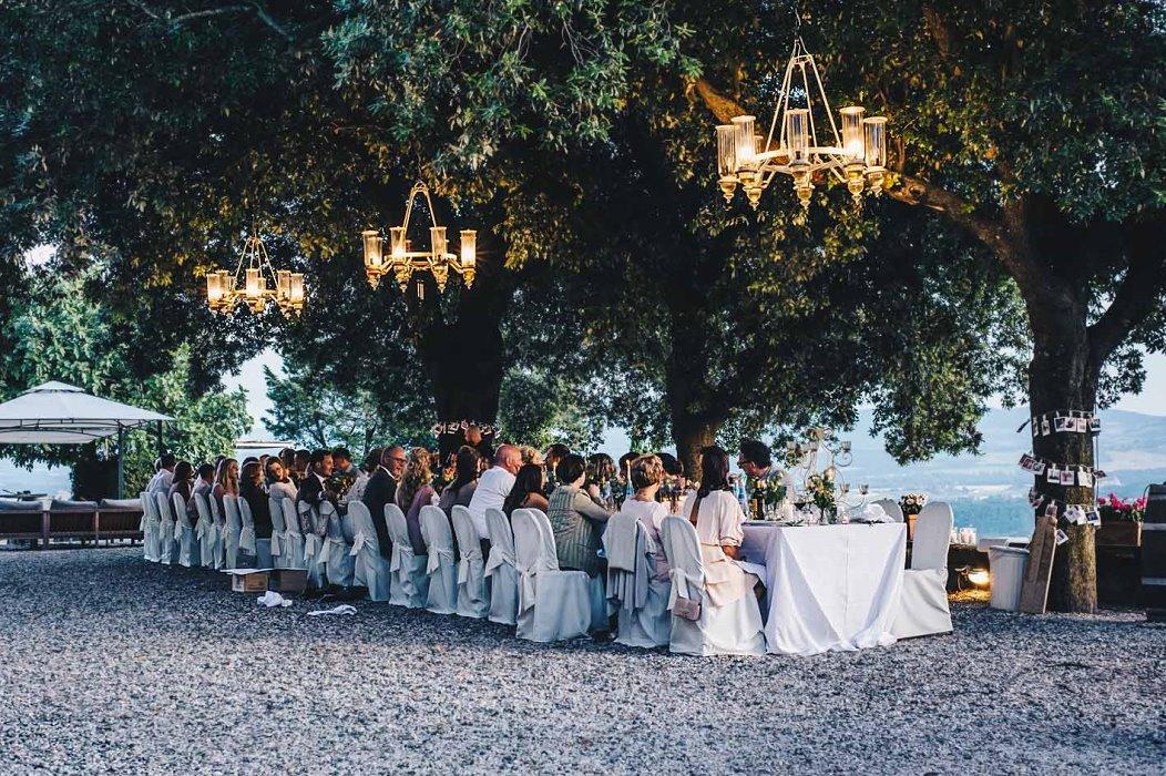 huwelijksdiner in Italië